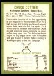 1963 Fleer #28  Chuck Cottier  Back Thumbnail