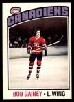 1976 O-Pee-Chee NHL #44  Bob Gainey  Front Thumbnail