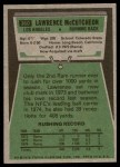 1975 Topps #360  Lawrence McCutcheon  Back Thumbnail