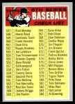 1970 Topps #542 GRY  Checklist 6 Front Thumbnail