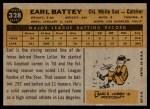 1960 Topps #328  Earl Battey  Back Thumbnail
