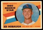 1960 Topps #131   -  Ed Hobaugh Rookie Star Front Thumbnail