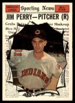 1961 Topps #584   -  Jim Perry All-Star Front Thumbnail