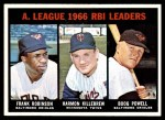 1967 Topps #241   -  Harmon Killebrew / Boog Powell / Frank Robinson AL RBI Leaders Front Thumbnail