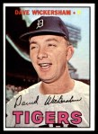 1967 Topps #112  Dave Wickersham  Front Thumbnail