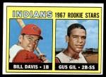 1967 Topps #253   -  Bill Davis / Gus Gil Indians Rookies Front Thumbnail