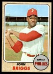 1968 Topps #284  Johnny Briggs  Front Thumbnail