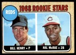 1968 Topps #384   -  Hal McRae / Bill Henry Reds Rookies Front Thumbnail