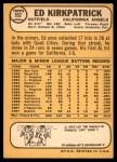 1968 Topps #552  Ed Kirkpatrick  Back Thumbnail