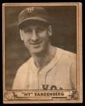 1940 Play Ball #209  Hy Vandenberg  Front Thumbnail