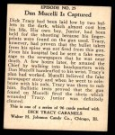 1931 Johnson Candy Dick Tracy R41 #25   Mucelli is Fooled Back Thumbnail