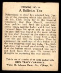 1931 Johnson Candy Dick Tracy R41 #23   To Prove Junior's Innocence Back Thumbnail