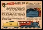 1955 Topps Rails & Sails #62   Mckeen Motor Car Back Thumbnail