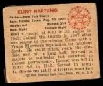 1950 Bowman #118  Clint Hartung  Back Thumbnail