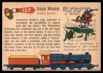 1955 Topps Rails & Sails #127   Single Wheeler Back Thumbnail