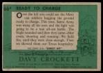 1956 Topps Davy Crockett Green Back #66   Ready To Charge  Back Thumbnail