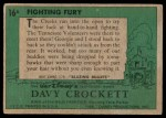 1956 Topps Davy Crockett Green Back #16   Fighting Fury  Back Thumbnail