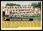 1956 Topps #95 CEN  Braves Team Front Thumbnail