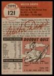1953 Topps #121  Walt Dropo  Back Thumbnail
