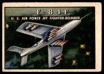 1952 Topps Wings #33   F-84F Front Thumbnail