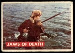 1956 Topps Davy Crockett Green Back #27   Jaws of Death  Front Thumbnail