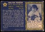 1953 Topps Who-Z-At Star #50  Walter Pidgeon  Back Thumbnail