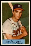 1954 Bowman #64  Eddie Mathews  Front Thumbnail
