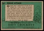 1956 Topps Davy Crockett Green Back #26   Sneak Attack  Back Thumbnail
