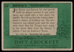 1956 Topps Davy Crockett Green Back #53   Bowie's 'Toothpick'  Back Thumbnail