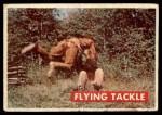1956 Topps Davy Crockett Green Back #37   Flying Tackle  Front Thumbnail