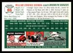 1954 Topps Archives #86  Billy Herman  Back Thumbnail