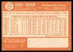 1964 Topps #254  Don Hoak  Back Thumbnail