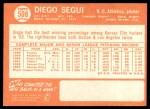 1964 Topps #508  Diego Segui  Back Thumbnail