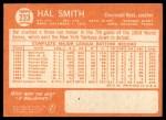 1964 Topps #233  Hal W. Smith  Back Thumbnail