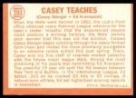 1964 Topps #393   -  Casey Stengel / Ed Kranepool Casey Teaches Back Thumbnail
