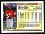 1999 Topps #424  Pokey Reese  Back Thumbnail
