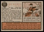 1962 Topps #414  Joe Gaines  Back Thumbnail