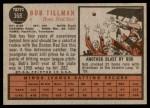 1962 Topps #368  Bob Tillman  Back Thumbnail