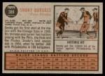 1962 Topps #389  Smoky Burgess  Back Thumbnail
