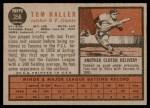 1962 Topps #356  Tom Haller  Back Thumbnail