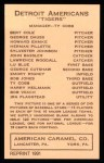 1922 E120 American Caramel Reprint #50  George Cutshaw  Back Thumbnail