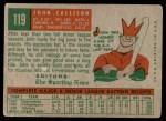 1959 Topps #119  Johnny Callison  Back Thumbnail