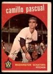 1959 Topps #413  Camilo Pascual  Front Thumbnail