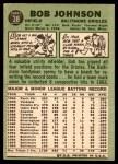 1967 Topps #38 xRL Bob Johnson  Back Thumbnail