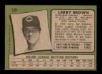 1971 Topps #539  Larry Brown  Back Thumbnail