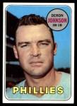 1969 Topps #297  Deron Johnson  Front Thumbnail