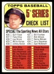 1969 Topps #412   -  Mickey Mantle Checklist 5 Front Thumbnail
