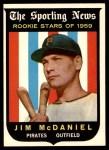 1959 Topps #134  Jim McDaniel  Front Thumbnail