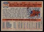 1957 Topps #228  Smoky Burgess  Back Thumbnail