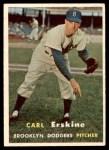 1957 Topps #252  Carl Erskine  Front Thumbnail